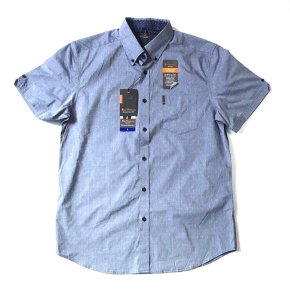 3b48ad31abae4 Ben Sherman Shirts | Short Sleeve Stretch Woven Shirt L New | Poshmark